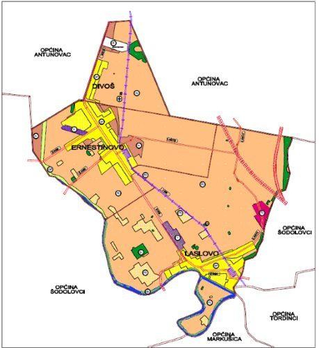 Prostorni plan uređenja Općine Ernestinovo Korištenje i namjena površina