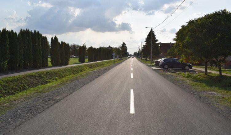 Izgled Ulice pobjede nakon rekonstrukcije, Općina Ernestinovo