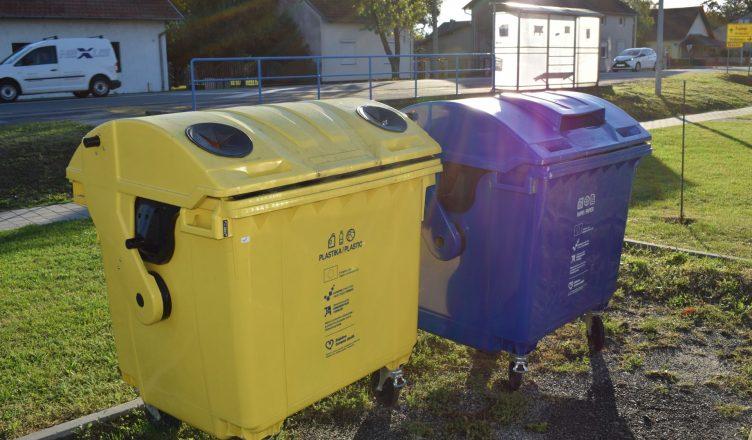 Kontejneri za odvojeno prikupljanje otpada papir i plastika